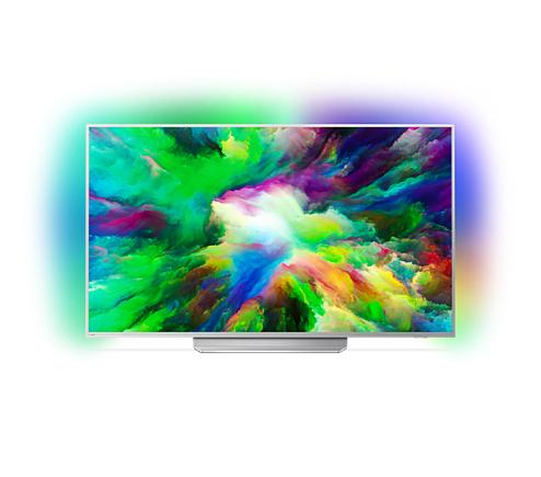 "Telewizor 75"" Philips 75PUS7803, 4K, Android, VA, EdgeLed, 400cd, 1700PPI, HDR+, Ambilight, 4HDMI, 2USB, sterowanie głosem, 4rdzenie"