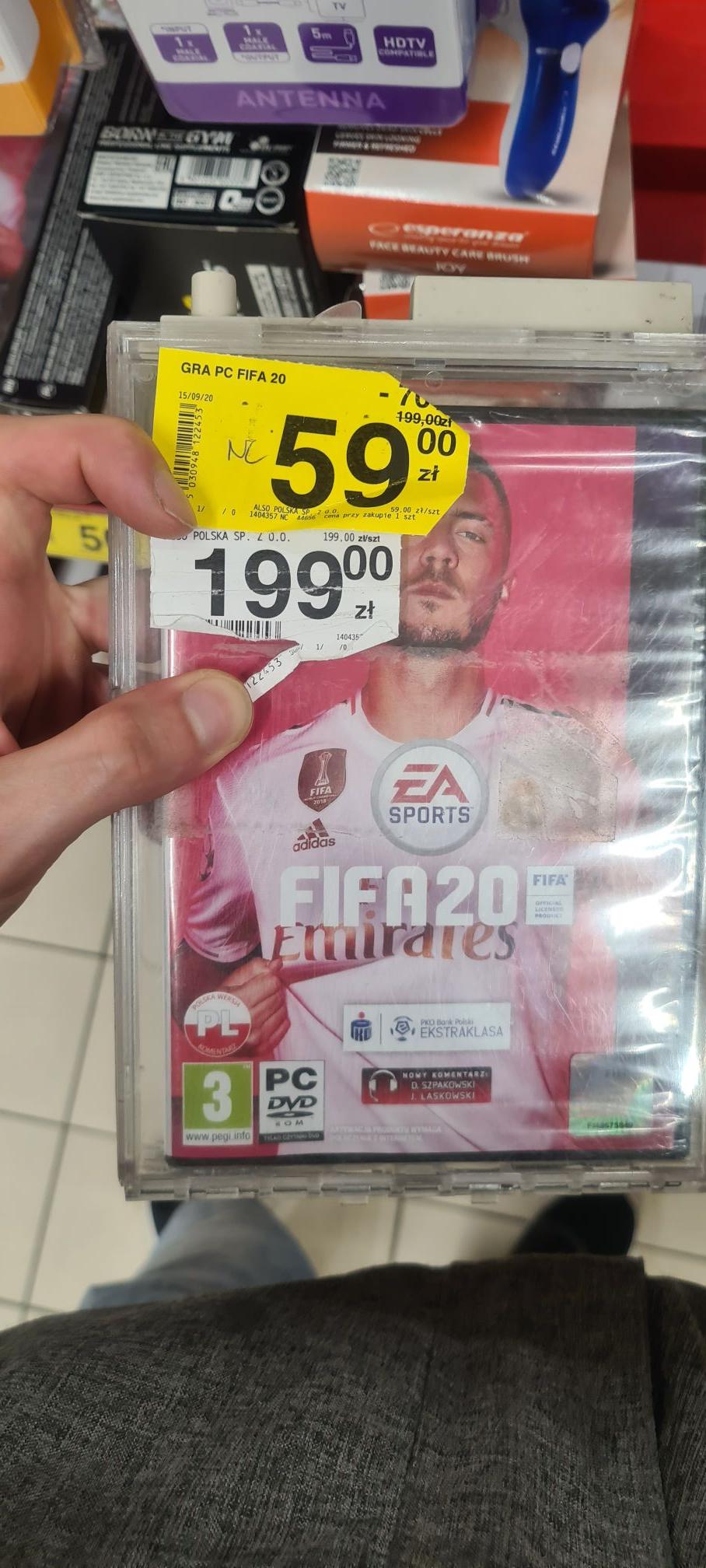 FIFA 20 w Carrefour na PC za 59zł