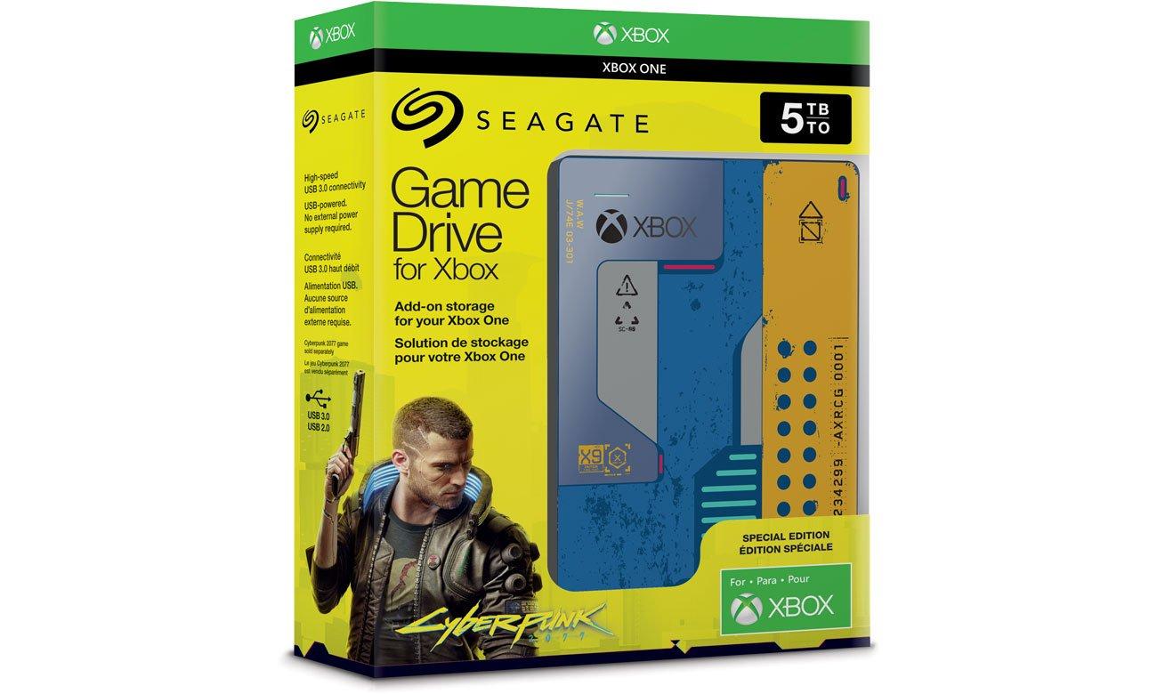 """Dysk HDD 2.5"""" 5TB Seagate Game Drive Xbox Cyberpunk 2077, USB 3.0, odbiór osobisty 0zł"""