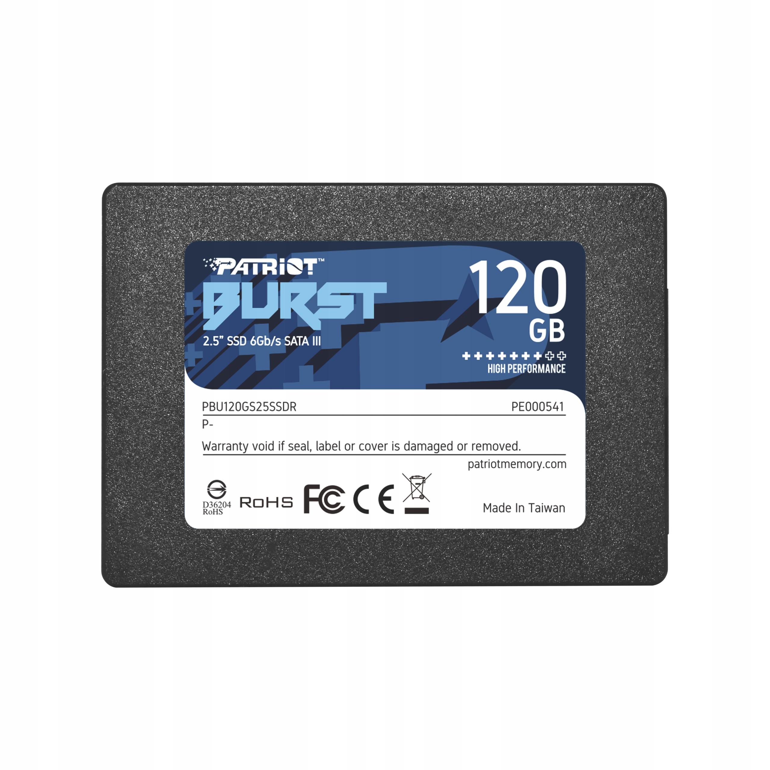 SSD PATRIOT 120GB Burst, Allegro Smart! week /gratis wysyłka
