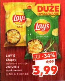 Chipsy Lays 210/215g @Kaufland