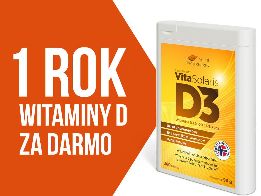 Roczny zapas witaminy D3 za darmo