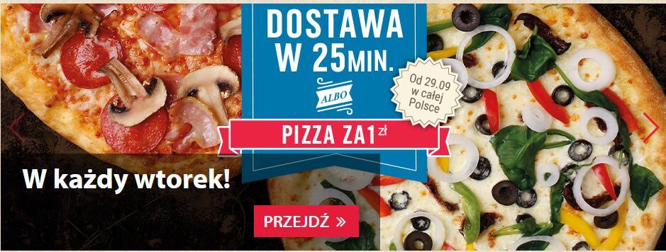 Domino's Pizza - dostawa za 25 minut albo pizza za 1 zł