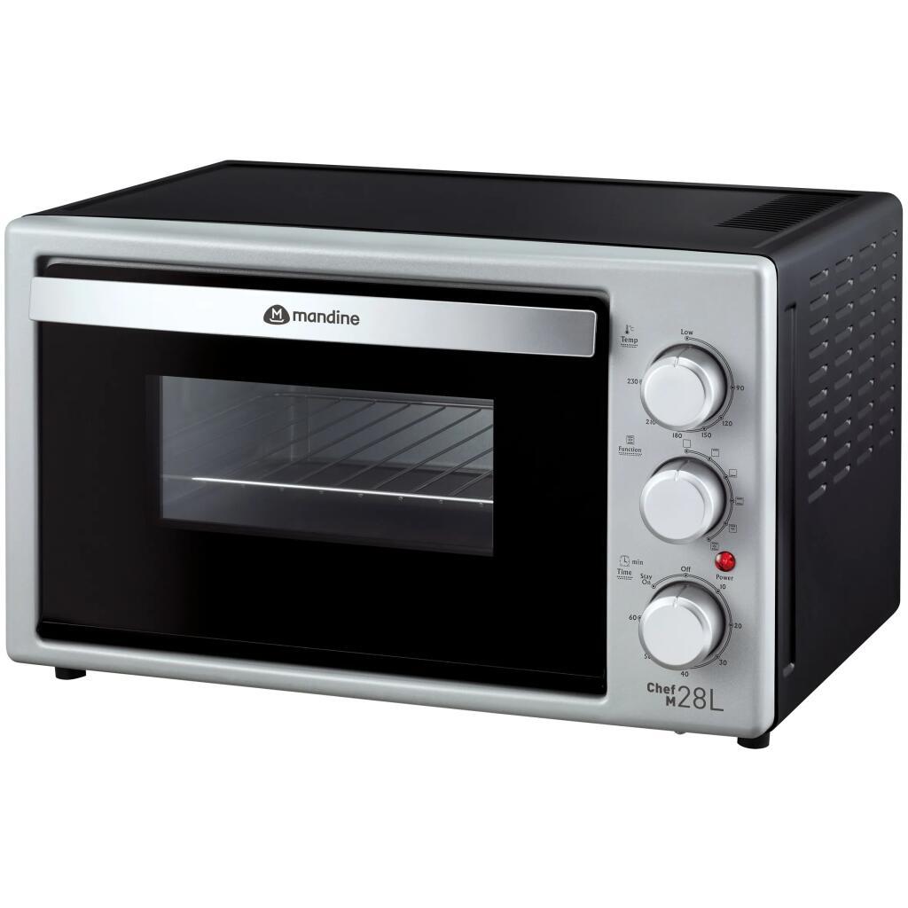 Mini piekarnik grill z termoobiegiem Mandine MTO280-18, 1500W, 28L, w Carrefour stacjonarnie (głównie)