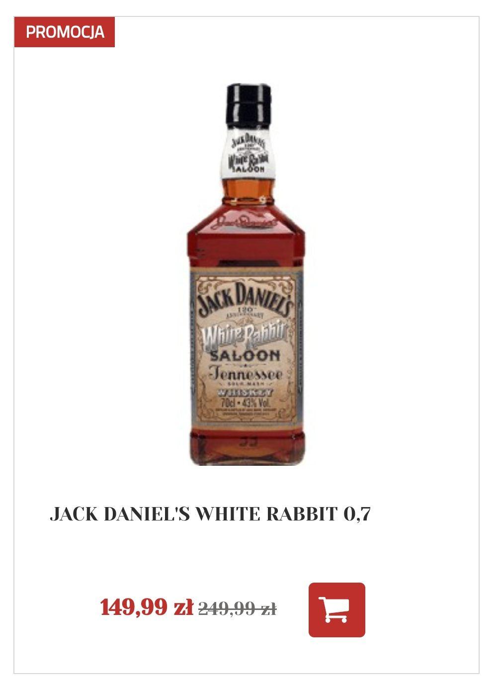 Jack DANIEL'S White Rabbit promocja alkooutlet