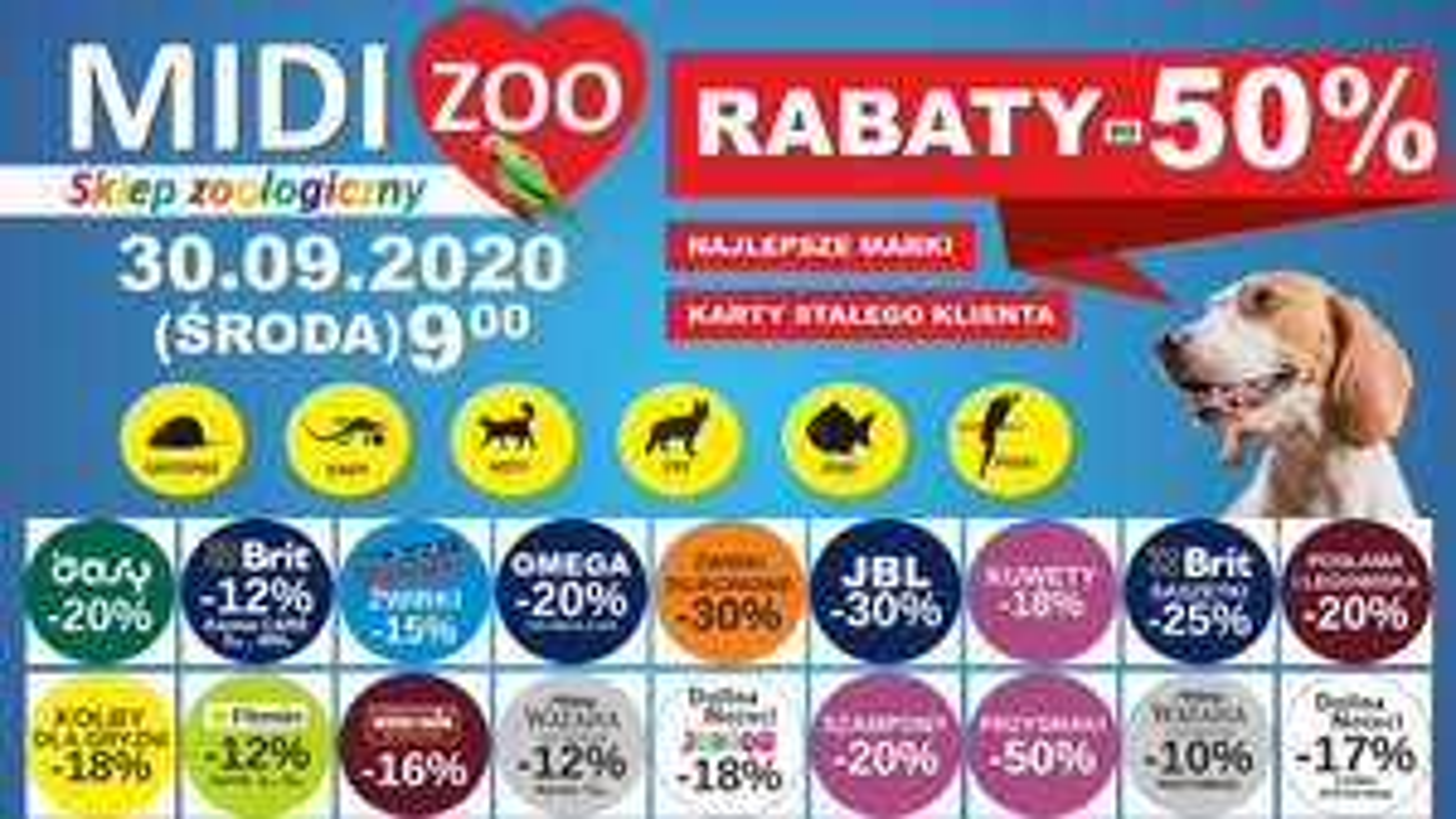 MIDI zoo - promocje do -50% z okazji otwarcia sklepu