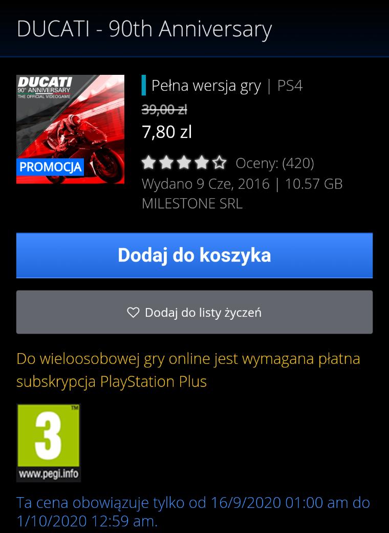 DUCATI - 90th Anniversary PS4
