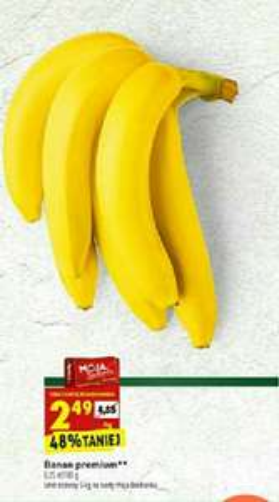 Biedronka, banany 2,49zl/kg