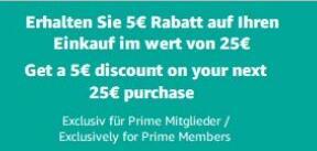 Zniżka 5 euro/25 euro MWZ na amazon.de za skorzystanie z amazon assistant