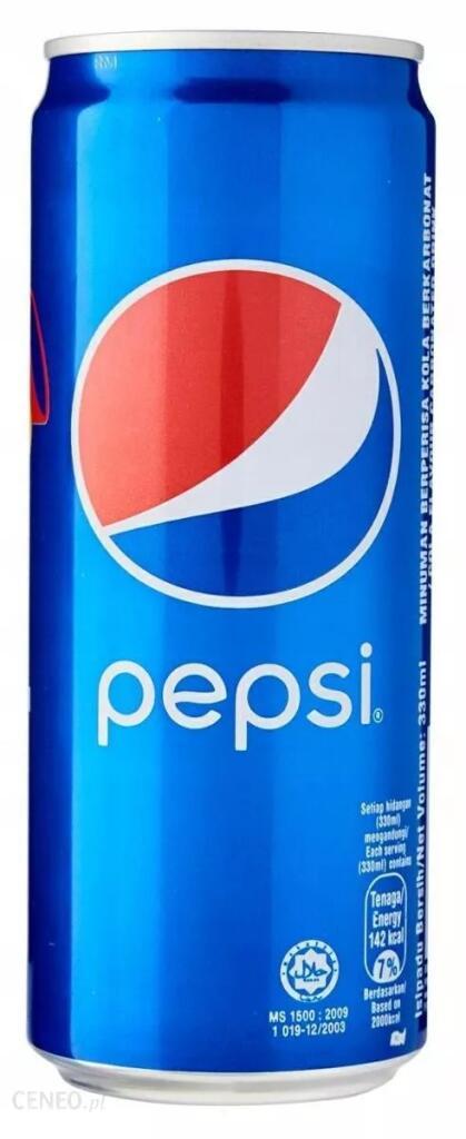 Pepsi puszka 0,33ml za 0,49zł w Piotr i Paweł Poznań Druskienicka