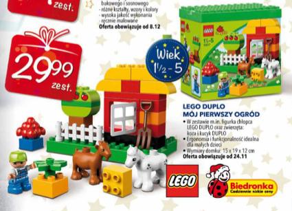 Mój pierwszy ogród - Lego Duplo za 29,99zł (od 24.11) @ Biedronka