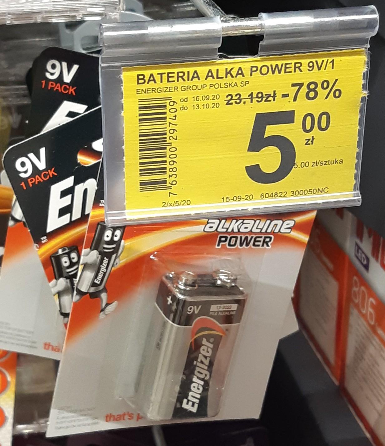 Bateria Energizer 9V @ Carrefour