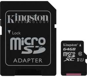 Karta pamięci Kingston Canvas Select microSDXC 64GB UHS-I