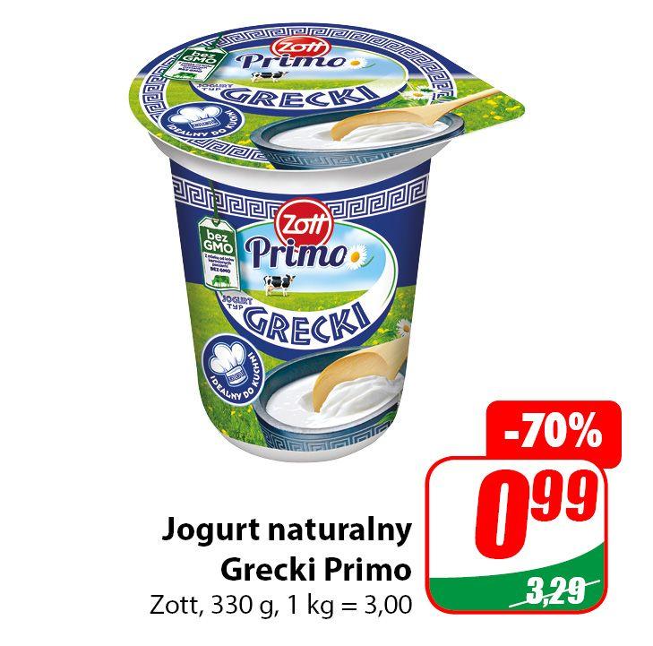 Jogurt Naturalny Grecki Primo Zott 330g - DINO