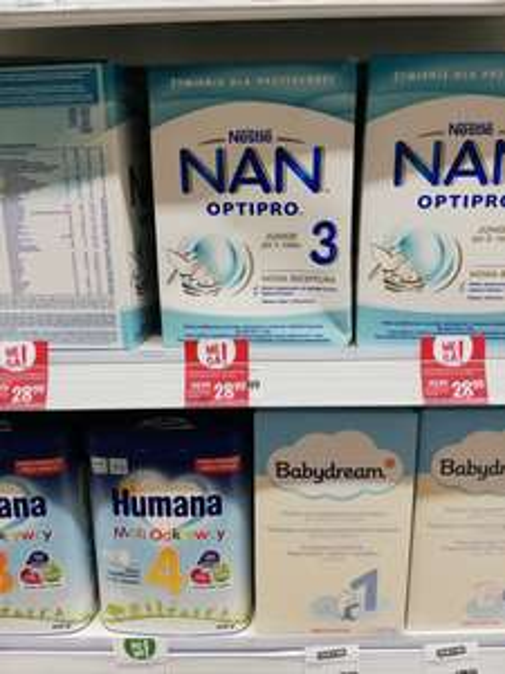 Mleko modyfikowane Nestle NAN OPTIPRO 2,3,4,5 za 29 zł 800g i deser BOBOVITA 190g za 3,30 zł w Rossmann