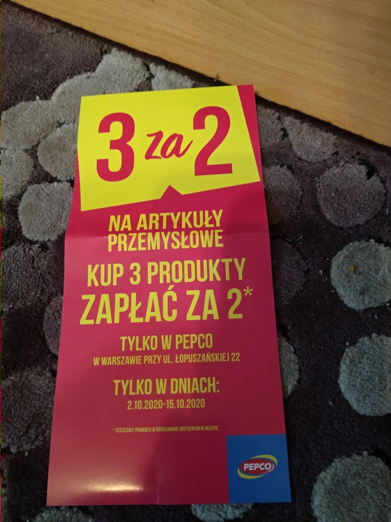 Pepco 3 za 2 artykuły przemysłowe, warszawa Łopuszańska*