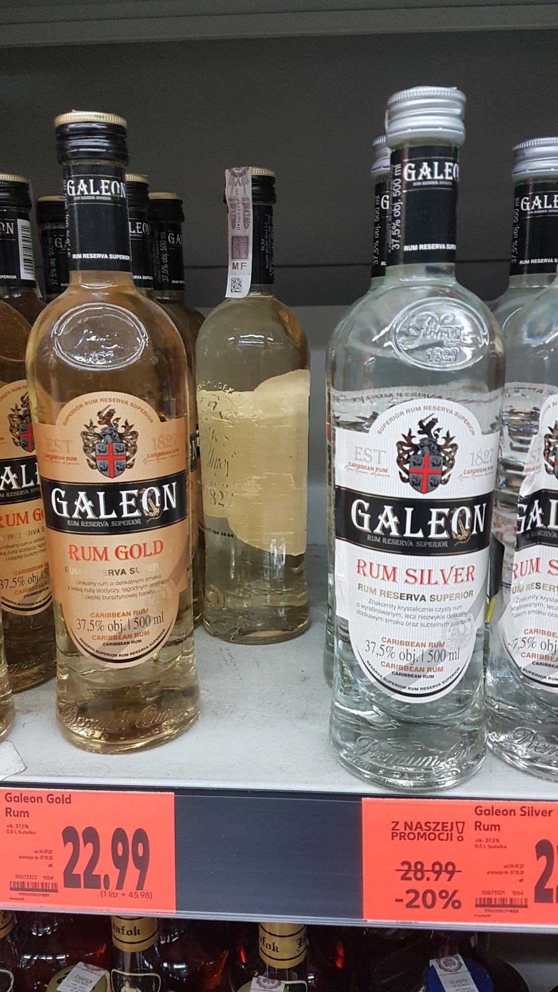 Rum Galeon 0.5l (złoty, srebrny, czarny)