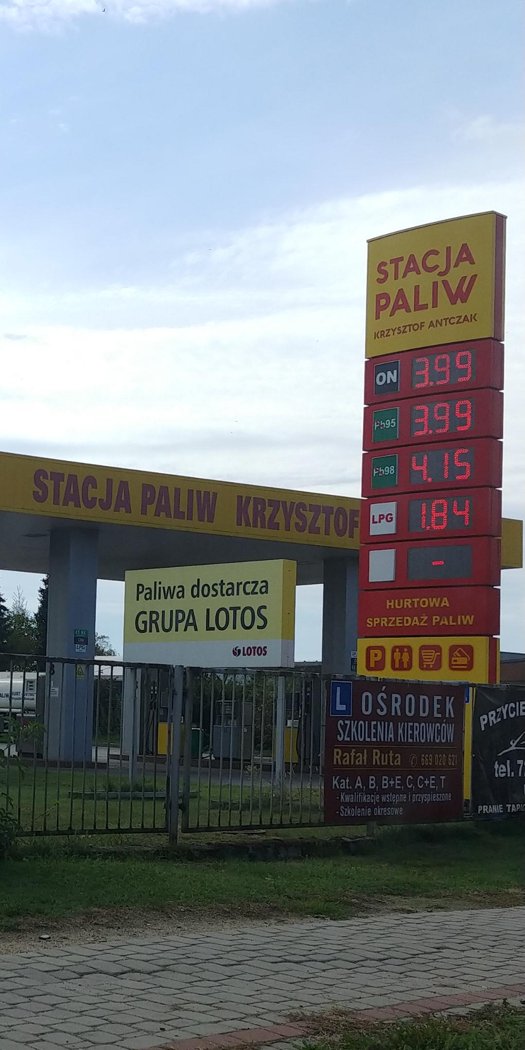 Tanie tankowanie 3.99l ON oraz PB95, LPG 1,84 zł