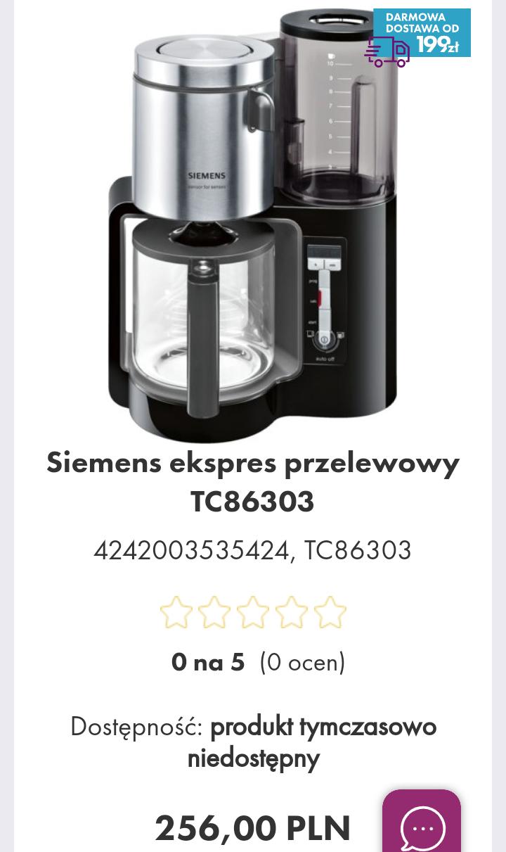 Siemens ekspres przelewowy TC86303 #vobis