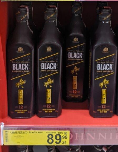 Whisky Johnny Walker 0,7 Black 40% - 18 % taniej