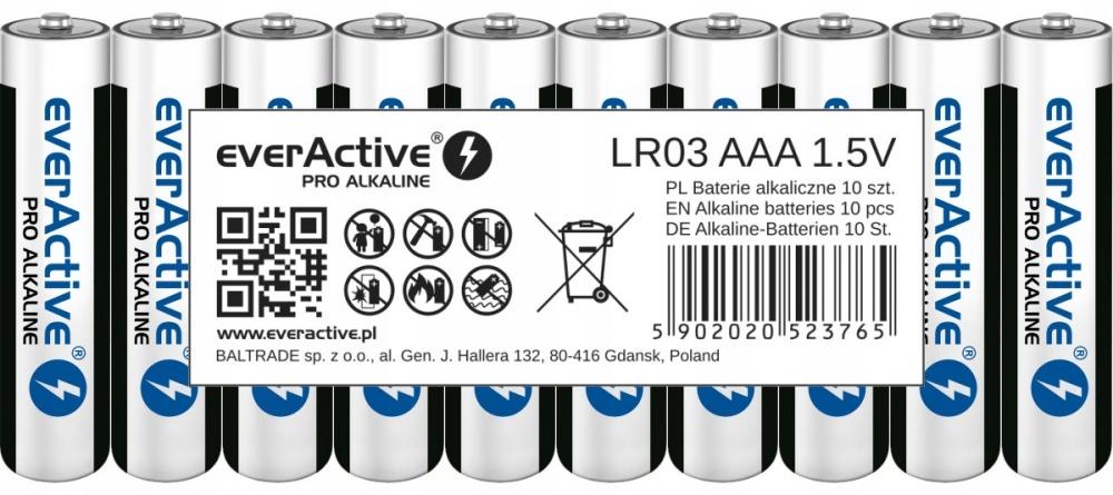 Baterie alkaliczne everActive PRO (AAA, AA) - SMART
