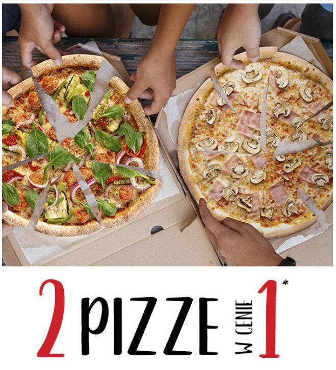 Pizza Dominium | Promocja 1+1 na ofertę klasyczną przez cały tydzień (w dostawie i lokalu!)