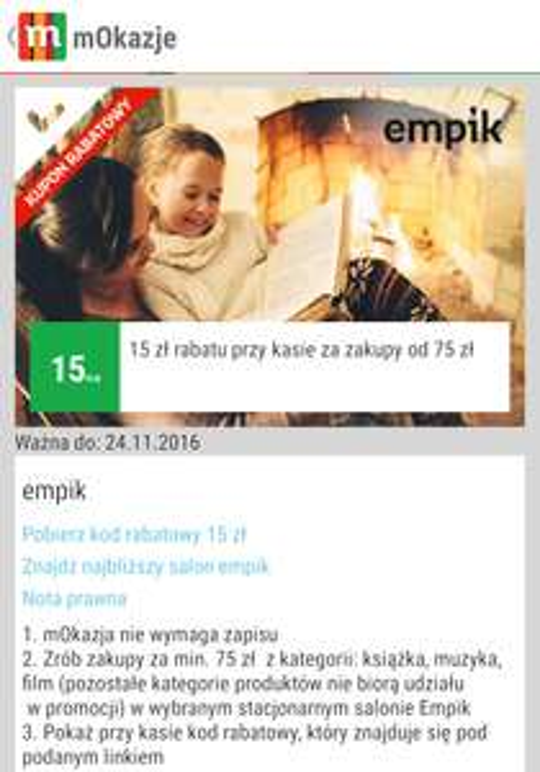 @mbank EMPIK Ksiazka Film -15zl MWZ 75