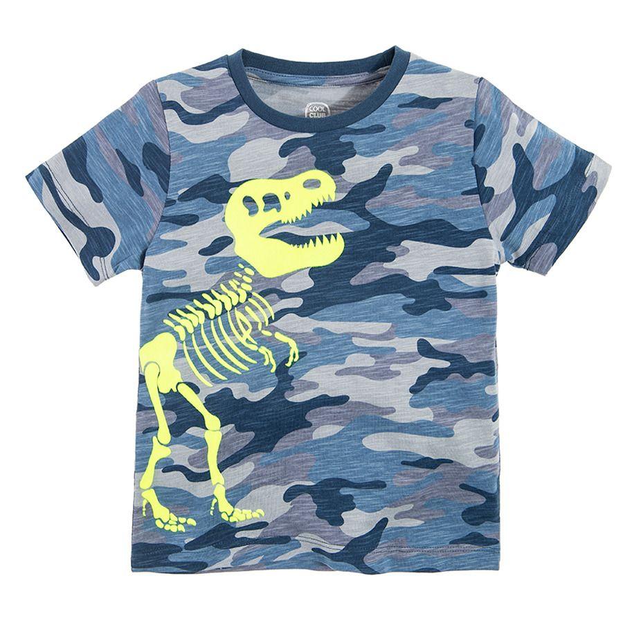 T-shirty chłopięce i dziewczęce, np. T-shirt chłopięcy moro, dinozaur, Cool Club