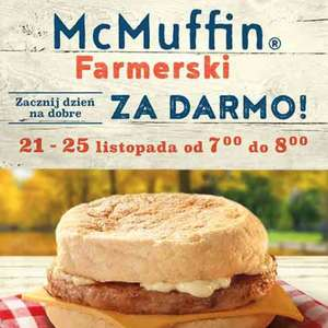 McMuffin farmerski za darmo McDonald's