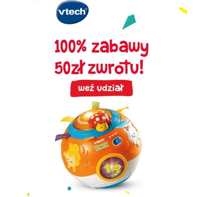 Zabawki Vtech - zwrot 50 zł na konto przy zakupie dowolnych zabawek za min. 99.99 zł