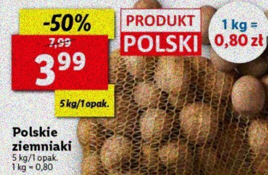 Ziemniaki 5 kg (0,80 zł/kg)|Cebula 5kg 4,99 zł|Marchew 4kg 5,89 zl @Lidl