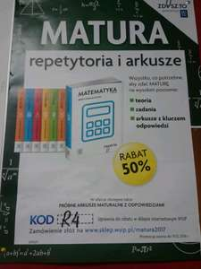 MATURA repetytoria i arkusze -50%