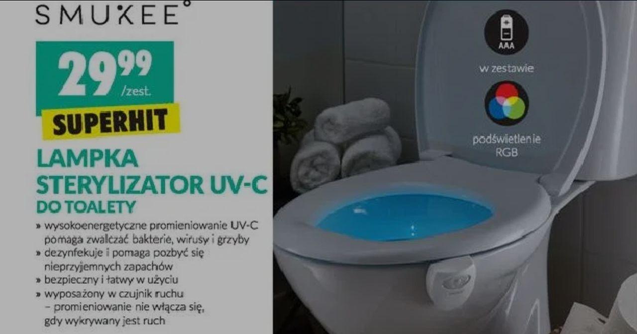 Lampka sterylizator UV-C do muszli WC @ Biedronka