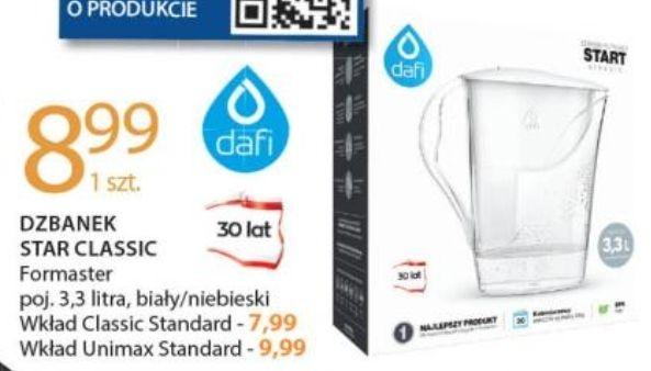 Dzbanek DAFI 3.3 L biały/niebieski oraz wkłady 7.99 - Leclerc
