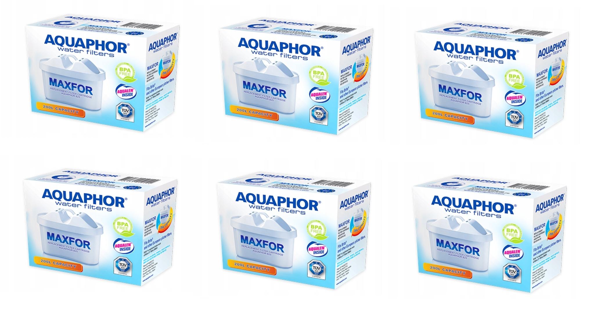 Filtr do wody Aquaphor Maxfor 6 szt. - 7,33zł/szt