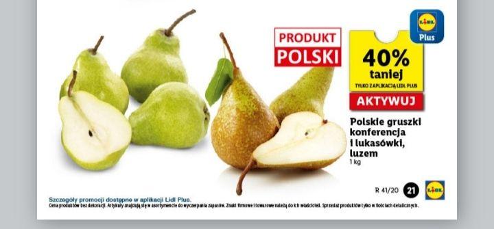 Polskie gruszki konferencja i lukasówki -40%