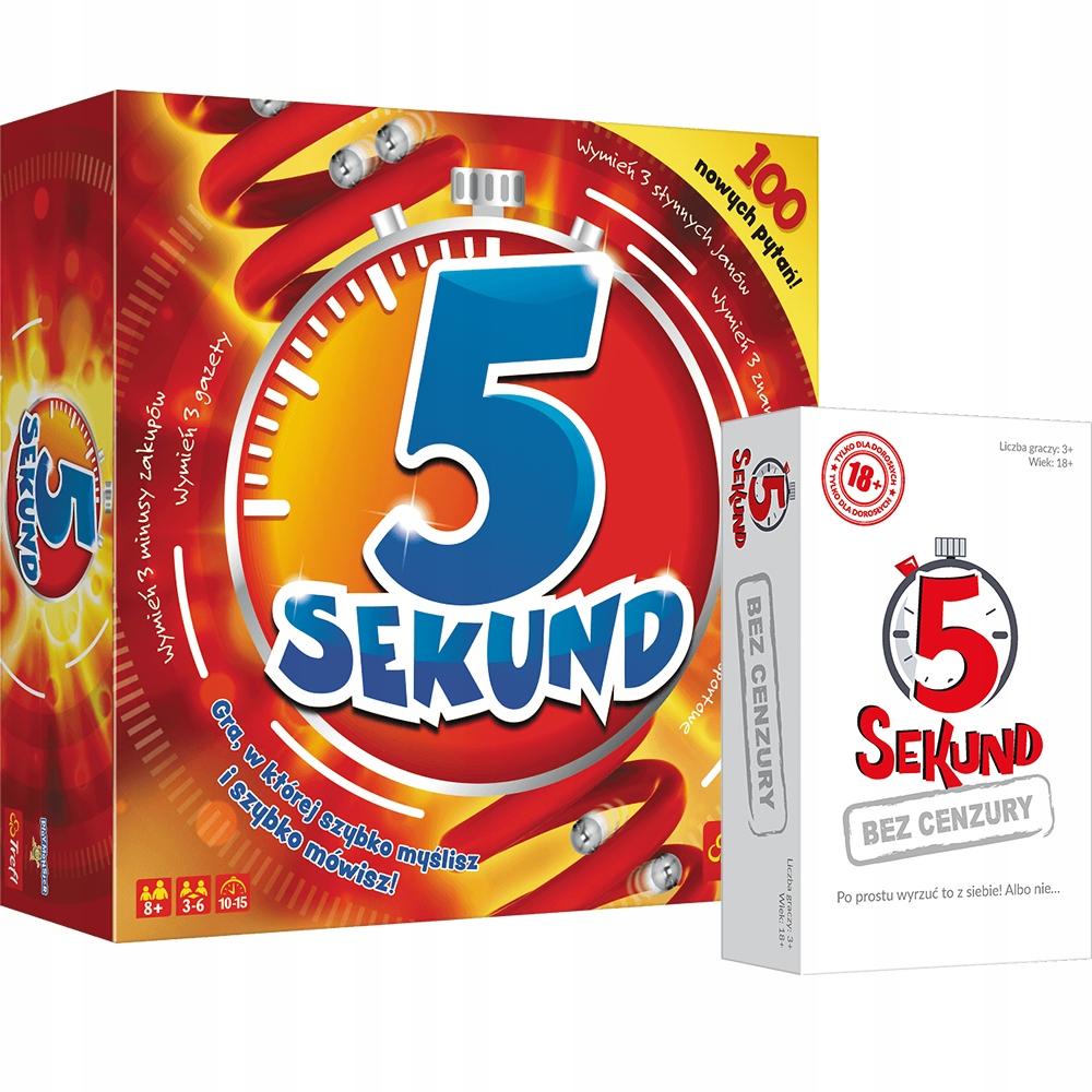 zestaw planszówek Trefl: 5 Sekund + 5 Sekund bez cenzury