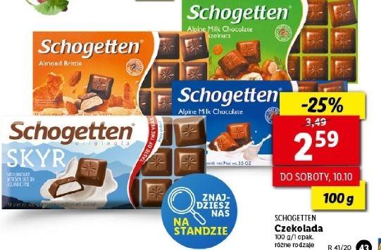 Czekolada Schogetten 100g, różne rodzaje, Lidl