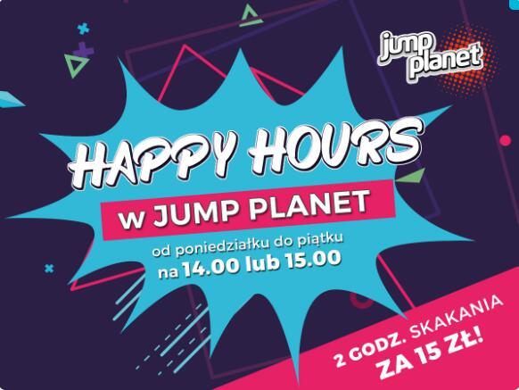 Jump Planet - 2 godziny skakania w godz. 14:00 lub 15:00