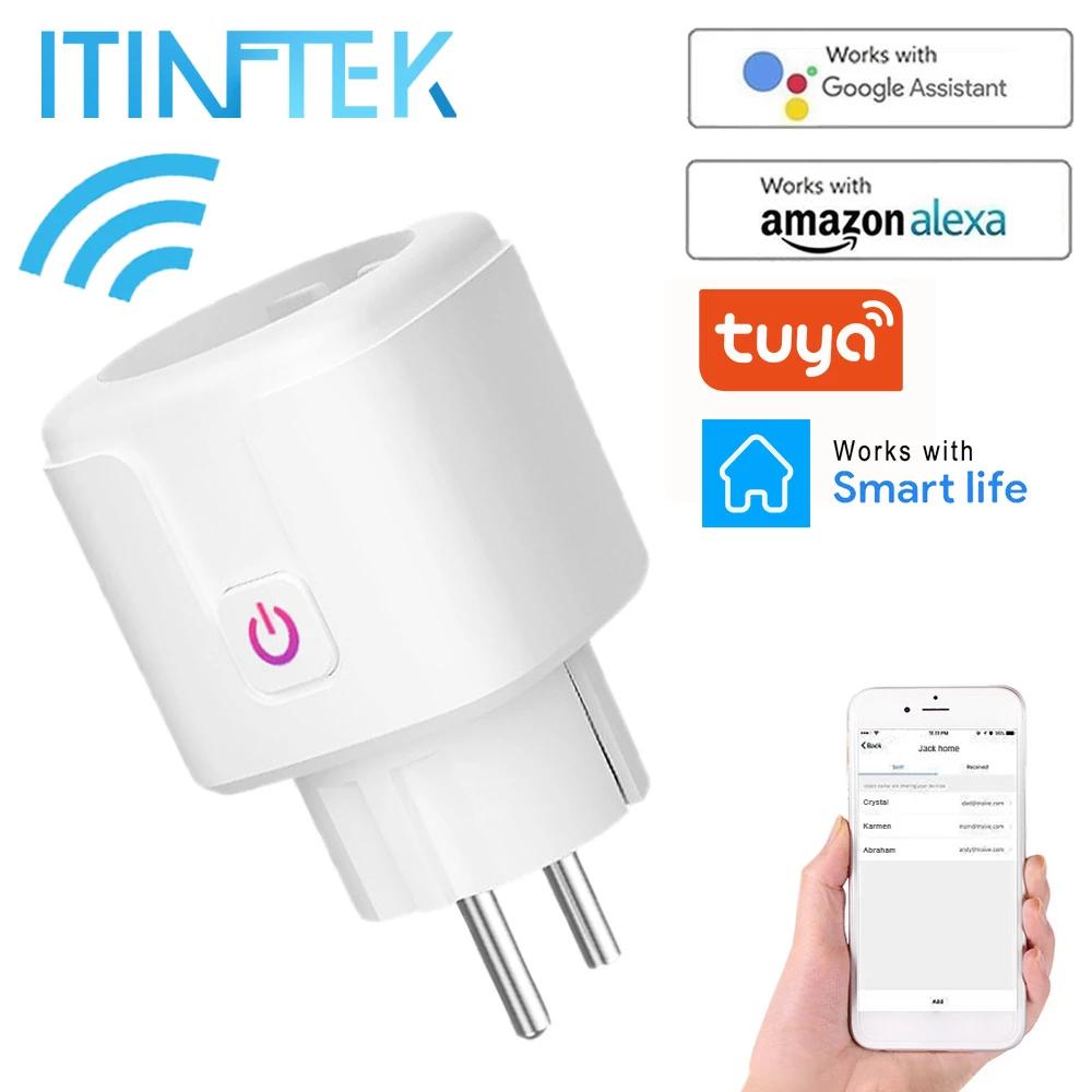 Inteligentne gniazdko ITINFTEK SP1 z WiFi z pomiarem zużycia prądu w czasie rzeczywistym (16A EU PLUG)