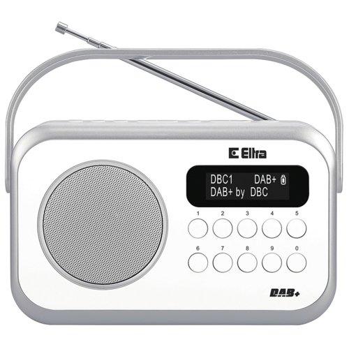 Radio z zegarem i budzikiem ELTRA Natalia DAB+, RDS Białe
