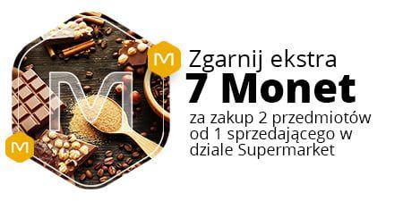 Allegro, +7 Monetprzy zakupie dwóch produktów od jednego sprzedawcy z działu Supermarket