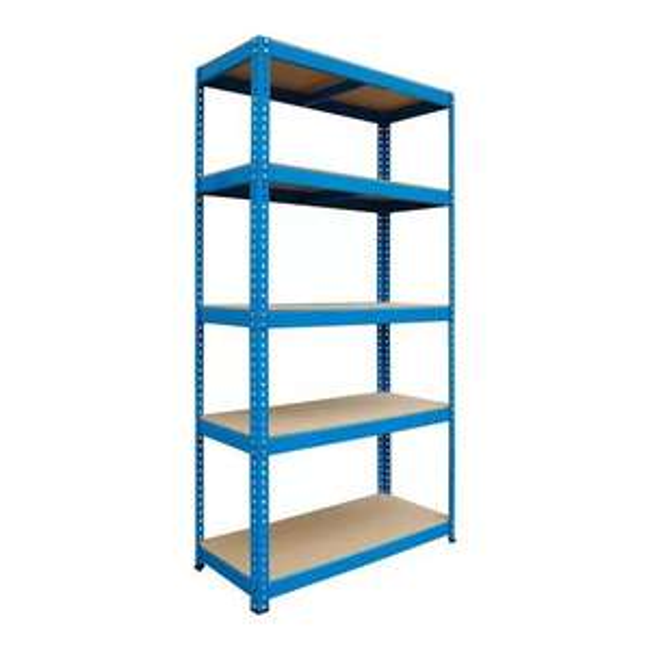 Regał metalowy skręcany Metalkas Stabil 180 x 90 x 40 cm niebieski