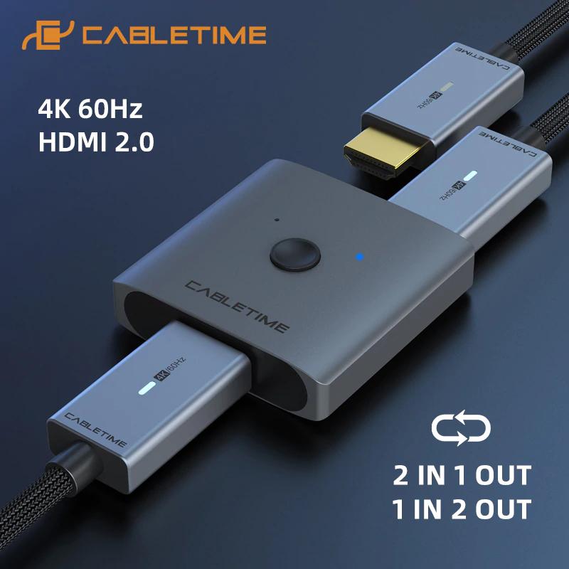 Dwukierunkowy przełącznik HDMI Cabletime (4K/60Hz) @AliExpress