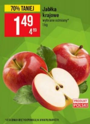 Jabłka polskie po 1,49zł w PoloMarket.