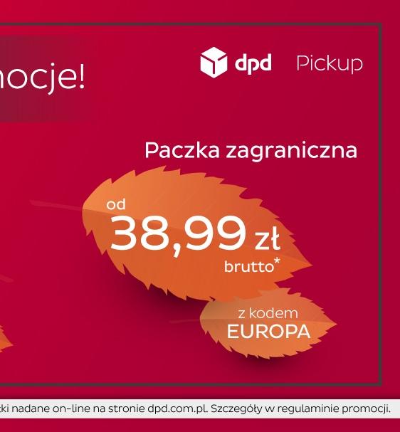 promocja DPD paczki INT od 38,99 zł