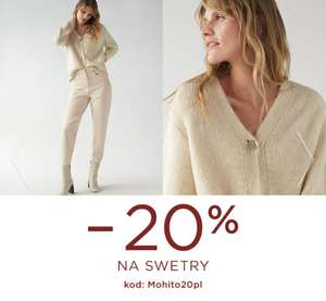 -20% na swetry w Mohito