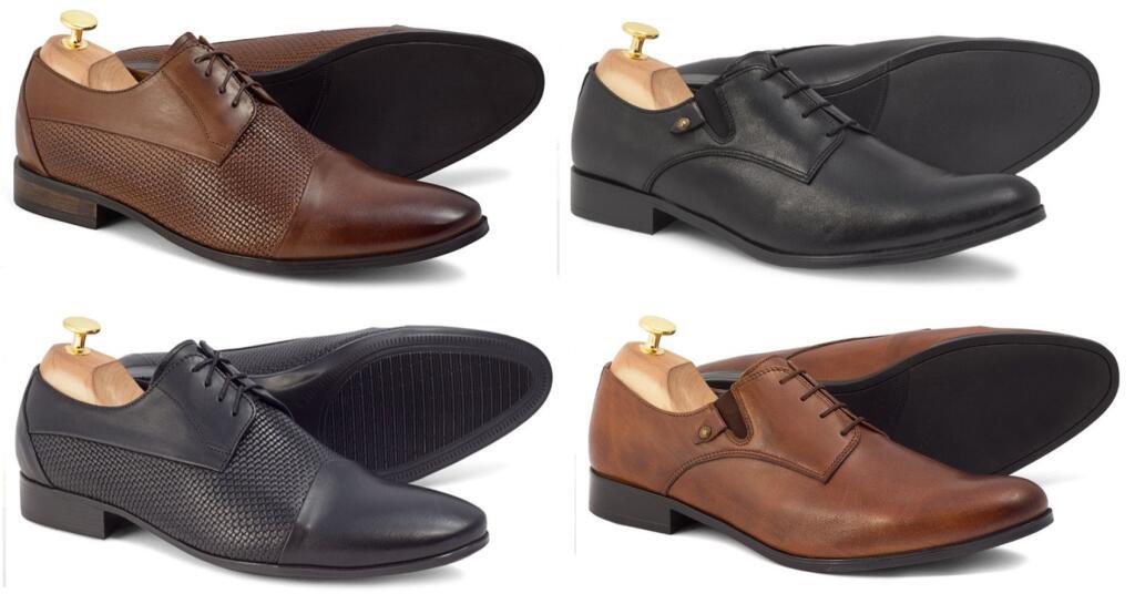 Skórzane buty męskie - 4 pary do wyboru BRILU