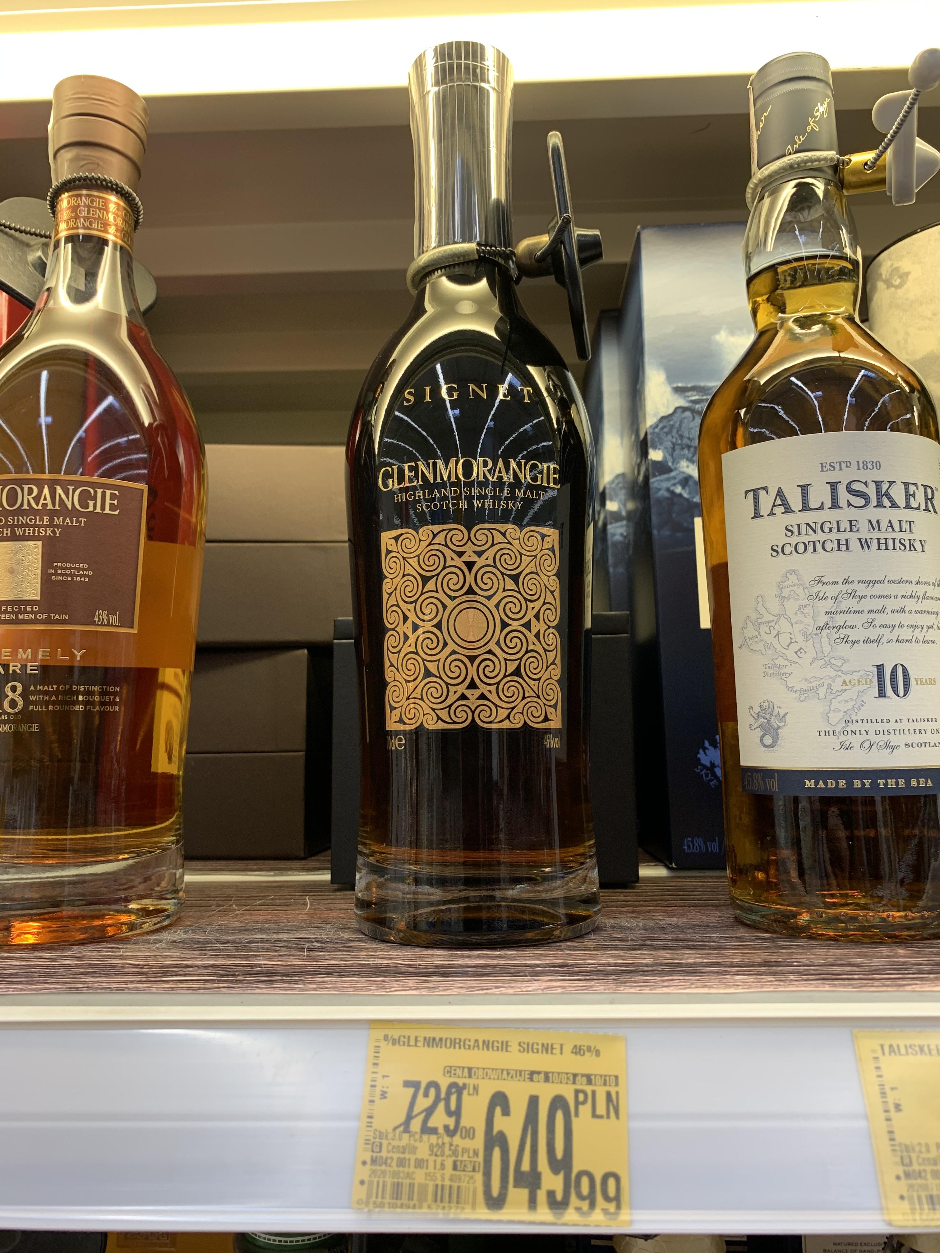 Glenmorangie Signet 46% 0,7 whisky. Więcej propozycji w opisie Auchan Łódź Polesie