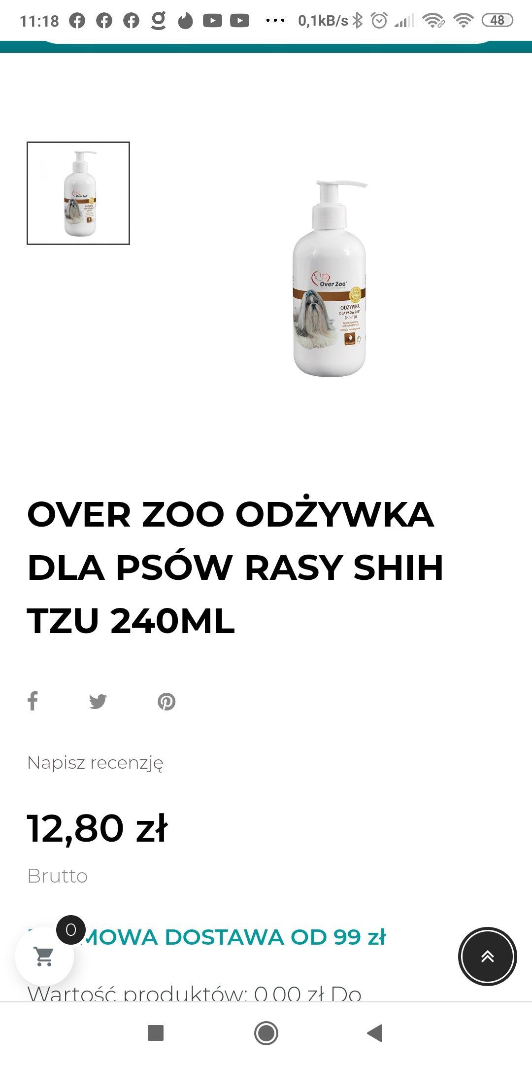 Odżywka dla psów shih tzu z over zoo